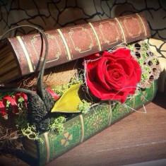 Aranjament cu trandafiri criogenati