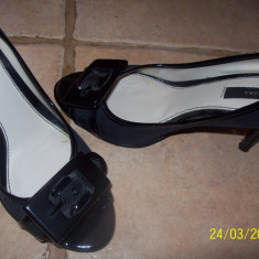 Pantof elegant zara - Pantof dama Zara, Culoare: Negru, Marime: 36, Nero, Cu toc