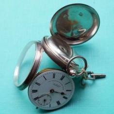Ceas De Buzunar Superb Argint950 Englezesc Mekanism Spindli  transport zero