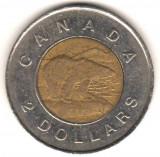 SV * Canada TWO DOLLARS / 2 DOLARI 1996 Elisabeth II bimetal, America de Nord