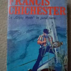 Cu Gipsy Moth in jurul lumii Francis Chichester carte aventura ilustrata foto - Carte de aventura, An: 1970