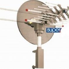 ANTENA TV PROFESIONALA, CU TELECOMANDA, RECEIVER/AMPLIFICATOR SI MOTOR.SEMNAL TV STICLA.
