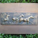 Basorelief bronz, Cai - sculptura de Dumitru Paina - Pictor roman