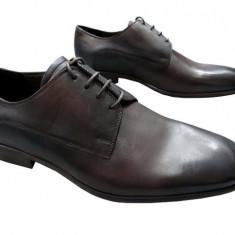Pantofi barbati piele naturala Denis-2562-G-m, Marime: 40, 41, 42, 43, 44, 45, Culoare: Maro