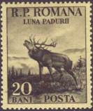 "1954 - seria ""luna pădurii"" catalog Mi RO 1464/6 (2 valori : 20 bani; 1,75 lei)"