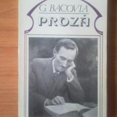 Z G.BACOVIA - PROZA - Roman, Anul publicarii: 1980