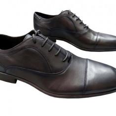 Pantofi barbati piele naturala Denis-2597-E-m, Marime: 40, 41, 42, 43, 44, 45, Culoare: Maro