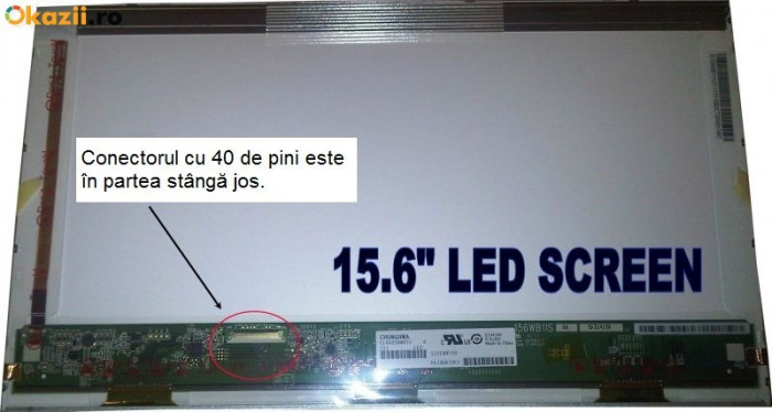 Display laptop Asus X55A 15,6 inch HD LED 1366x768 B156XTN02.1 ORIGINAL ca NOU