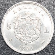 (888) ROMANIA 5 LEI 1880 - REPLICA SUPERBA, FOARTE CALITATIVA ! ! ! DIMENSIUNE MAI MARE DE CAT CEA ORIGINALA. - Moneda Romania