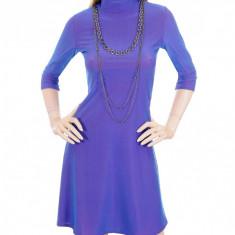 Rochie Albastru Purpuriu - Rochie de zi, Marime: S, Culoare: Din imagine