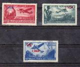 LP319 , POSTA AERIANA 1948 CU SUPRATIPAR 3 BANI ,1952