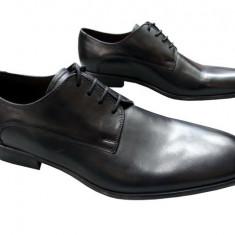 Pantofi barbati piele naturala Denis-2562-E-n, Marime: 41, Culoare: Negru, Negru