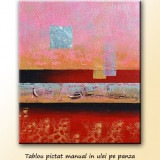 Abstract 20 - tablou in relief 60x50cm, LIVRARE GRATUITA 24-48h - Tablou autor neidentificat