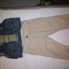 Compleu pantaloni 3/4 Lefties by Zara si bolero jeans, purtat o singura data, pt. 3-4 ani (merge pana la 5 ani) - REDUCERE!