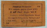 310 BANCNOTA  - GERMANIA COLONIE AFRICA DE EST - 5 RUPIEN - anul 1.07.1917 -SERIA 50605 -starea care se vede