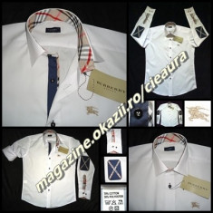 CAMASA BARBATI ALBA GEN FIRMA BURBERRY LONDON REGULAR FIT COATE IMPRIMEU CLASIC, Marime: S, M, L, Maneca lunga
