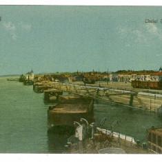 1868 - GALATI - Cheiul DUNARII - old postcard - used