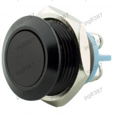 Push buton metalic, antivandalism, fara retinere, negru-168800