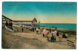 1815 - Constanta, Mamaia, plaja si baile - old postcard - unused