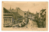 4 - SIBIU, street Queen Mary, tramway - old postcard - used - 1929
