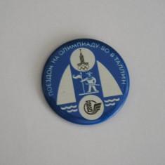 BISPO1 - STRAINA - SPORT - YAHTING - JOCURILE OLIMPICE - MOSCOVA - ANUL 1980 - Insigna