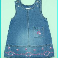 DE FIRMA _ Sarafan blugi, bumbac, IMPECABIL H&M _ fetite | 9 - 12 luni + | 80 cm - Sarafan copii