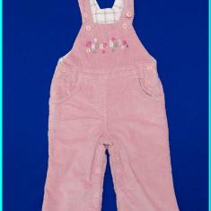Pantaloni salopeta, captusiti, catifea reiata, IMPIDIMPI _ fete | 9-12 luni | 80, Marime: Alta, Culoare: Roz