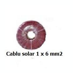 Cablu solar pentru panouri fotovoltaice 1 x 6 mm2 - Rosu