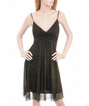 123123Rochie Eleganta Negru cu Auriu