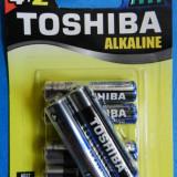 Baterii Alkaline Toshiba Tip AAA   LR03   R3   Set 4+2 cadou   1.5V   Calitate GARANTATA