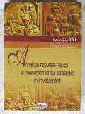 ANALIZA RESURSE - NEVOI SI MANAGEMENTUL STRATEGIC IN INVATAMANT, F. Voiculescu