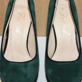 Pantofi dama platforma - Pantof dama, Culoare: Rosu, Verde, Marime: 35, Verde, Cu toc