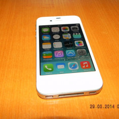 Vand iPhone 4 Apple- 16 GB, alb, IOS 7.1, Orange