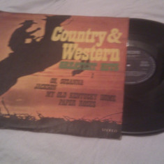 DISC VINIL VINYL COUNTRY & WESTERN GREATEST HITS - Muzica Country