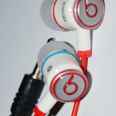 Casti TOUR ibeats by dr dre + 2 doape BONUS, Casti In Ear, Cu fir, Mufa 3,5mm, Monster Beats by Dr. Dre