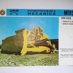 Reclama romaneasca BULDOZER PE SENILE DM 550 - Intreprinderea Mecanica Marsa - Reclama Tiparita