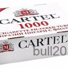 TUBURI CARTEL 1000 tuburi, filtre tigari/ cutie, pentru injectat tutun, tigari - Foite tigari