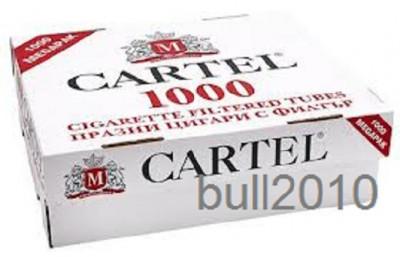 TUBURI CARTEL 1000 tuburi, filtre tigari/ cutie, pentru injectat tutun, tigari foto