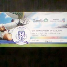 Bilet meci  / CSM Rm.Valcea-FC Olt Slatina (16 noiembrie 2013)