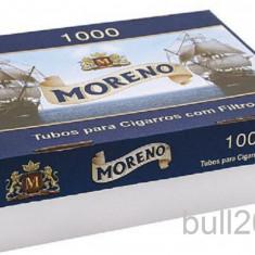 Tuburi tigari MORENO 1000 tuburi pentru injectat tutun, tigari / filtre tigari - Foite tigari