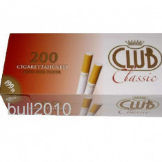 Tuburi CLUB CLASSIC - 200 tuburi pentru injectat tutun, tigari, filtre tigari - Filtru tutun