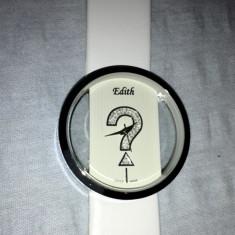 Ceas dama Edith sub licenta calvin klein CK, quartz nou garantie reducere de pret, Piele, Analog