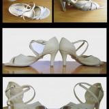 Vand sandale / pantofi piele bej de dama, marimea 38