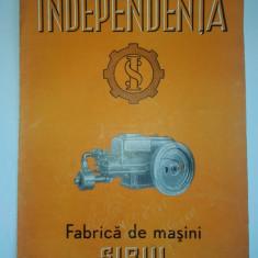 Vechi pliant romanesc FABRICA DE MASINI - INDEPENDENTA SIBIU, perioada comunista