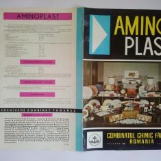 Reclama romaneasca - pliant - AMINOPLAST - COMBINATUL CHIMIC FAGARAS - Reclama Tiparita