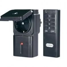 Set 2 prize comandate prin telecomanda radio DE EXTERIOR, PROTECTIE PENTRU COPII - Priza si intrerupator