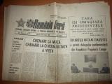 ziarul romania libera 28 ianuarie 1981 ( tara isi omagiaza presedintele )