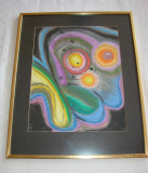 Superba pictura abstracta, semnata KW 1968, Abstract