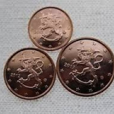 monede 1,2,5 euro centi FINLANDA 2013 UNC