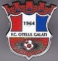 Insigna Otelul Galati cu pin, fabricata in Belgia
